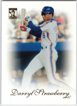 2010 Topps Tribute Darryl Strawberry (Jay Bruce Wrong Back)