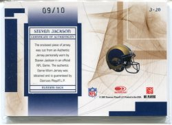 2007 Leaf Limited Steven Jackson Jumbo Patch Back
