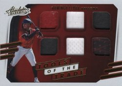 Domingo Leyba 2021 Panini Absolute Tools of the Trade 6 Swatch