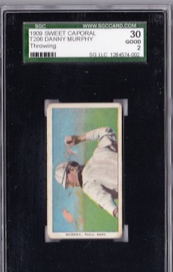 1909  T206 Sweet Caporal 150 Danny Murphy Throwing