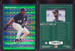 1998  Donruss Production Line On Base Frank Thomas