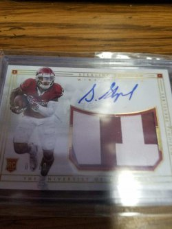 2016 Panini National Treasures Sterling Shepard 2016 national treasures patch auto 07/10