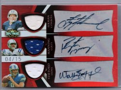 2009 Topps Triple Threads Matthew Stafford/Troy Aikman/Peyton Manning