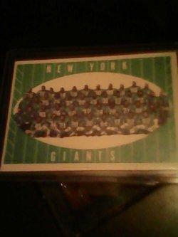 61 Topps  New York Giants team