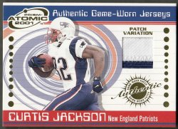 2001  Pacific Prism Atomic Jersey Patches Curtis Jackson
