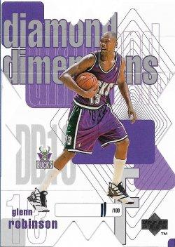 1997-98 Upper Deck Diamond Dimensions Glenn Robinson #ed 11/100