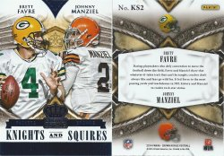 2014  Crown Royale Knights & Squires Blue #2 Brett Favre