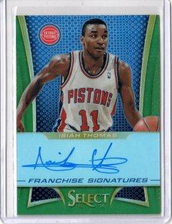 2013 Panini Select Isiah Thomas Franchise Signatures