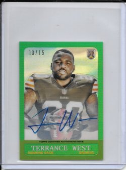 2014 Topps Chrome 1963 Refractor Autograph - Terrance West