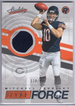 2017 Panini Absolute Mitchell Trubisky Rookie Force Jersey