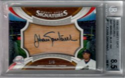 06 Sweet Spot Signatures Bat Barrell Blue Ink #ed 1 of 5
