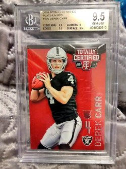 2014 Panini Totally Certified Derek Carr Platinum Red Rookie Parallel