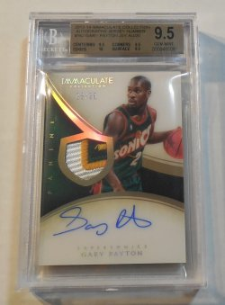 2013/14 Panini Immaculate Collection Gary Payton acetate patch autograph
