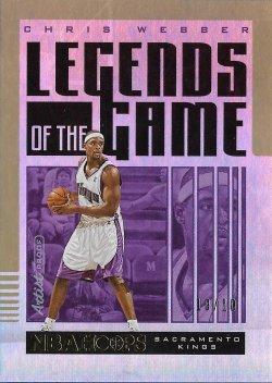 2021  Hoops Legends of the Game Artist Proof Gold Chris Webber #ed 10/10