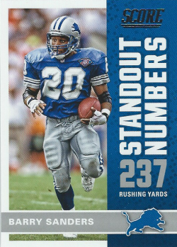 2017 Panini Score Standout Numbers Barry Sanders