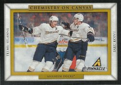 2010/11 Panini Pinnacle  Chemistry on Canvas Selanne/Koivu