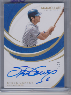 2019 Panini immaculate collection steve garvey
