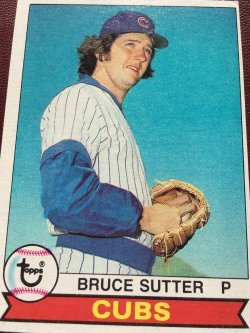 1979 Topps  BRUCE SUTTER #457 Chicago Cub Cardinal Brave AllStar RHP
