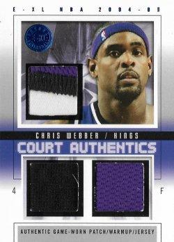 2004-05  E-XL Court Authentics Patches / Warm Ups / Jerseys Chris Webber #ed 7/8