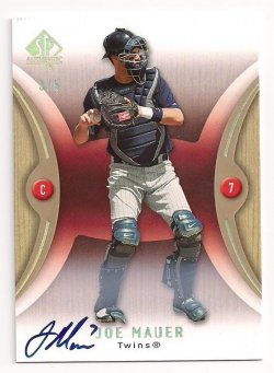 2007 Upper Deck SP Authentic  Joe Mauer Auto
