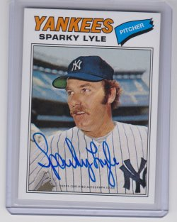 2016 Topps archives 65th ann. sparky lyle
