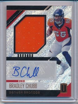 Bradley Chubb 2018 Panini Unparalleled Rookie Jersey Autographs