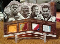 2017 Panini Pantheon Legendary Monuments Reggie White/Bruce Smith/Michael Strahan/Julius Peppers