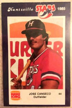 1985  Burger King Jose Canseco