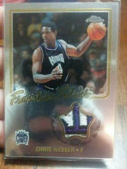 "2002-03 Topps Chrome Chris Webber Franchise Fabrics 02 All-Star Warm-Up ""Kings"" Patch"