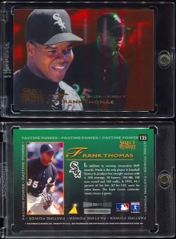 1996  Select Certified Mirror Red PP Frank Thomas