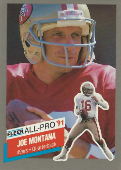 1991 Fleer All-Pro Joe Montana