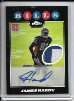 2008 Topps Chrome Rookie Autograph Patch - James Hardy