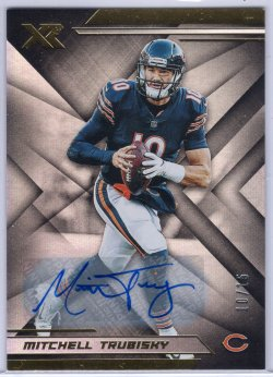 2019 Panini XR Mitchell Trubisky Base Autographs