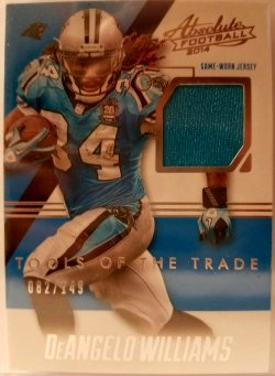 2014 Panini Absolute Tools Of The Trade  DeAngelo Williams