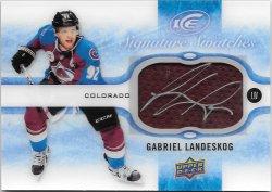 2015-16 Upper Deck Ice Signature Swatches Gabriel Landeskog