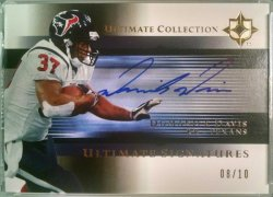 2005 Upper Deck Ultimate Collection  Domanick Davis ultimate signatures gold