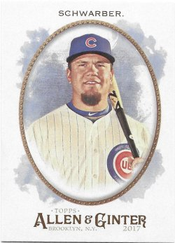 2017 Topps Allen and Ginter Schwarber