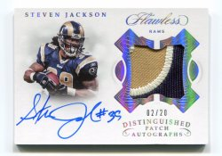 2018 Panini Flawless Steven Jackson Distinguished Patch Autographs Silver