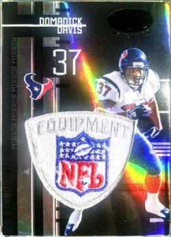 2005 Leaf Certified Domanick Davis mirror black NFL shield 1/1