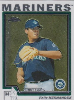 2004 Topps Traded Chrome Felix Hernandez FY RC