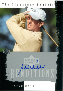 2003 Upper Deck Renditions Signature Mike Weir Auto