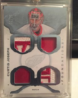 2015 Upper Deck The Cup Curtis Joseph Foundations quad patch