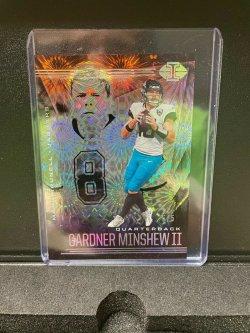 2020 Panini Illusion Trophy Collection Conference Brunell and Minshew