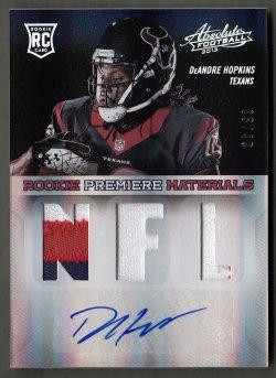 2013  Absolute Rookie Premiere Materials Autographs NFL Prime DeAndre Hopkins