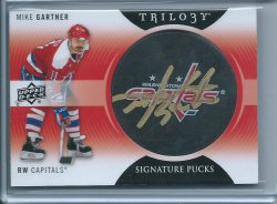 2013 Upper Deck Trilogy Mike Gratner Puck Auto