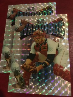 1997 Topps Finest Warriors ReFractor  MIKE STANLEY #134 W48 uncommon Boston RedSoX Catcher