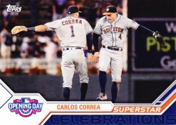 2017 Topps Opening Day Carlos Correa Superstar Celebrations