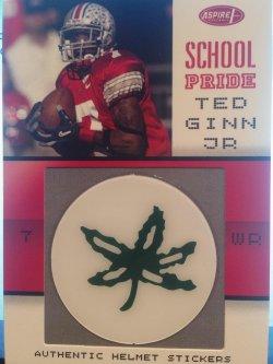 2007 Sage Aspire Ted Ginn Jr. School pride helmet sticker