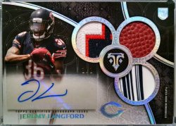 2015 Topps Triple Threads Jeremy Langford RPA Onyx Silver Rainbow 1/1