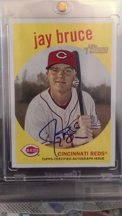 2008 Topps Heritage  Jay Bruce Ceritfied On Card Autograph